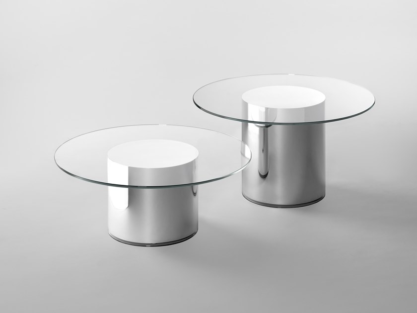 Round tempered glass coffee table 2001 by BD Barcelona Design