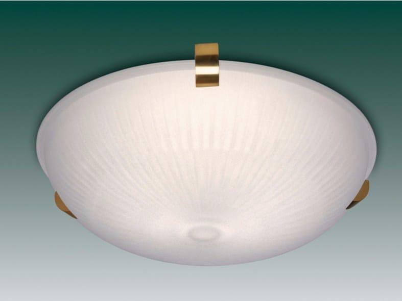 Direct light glass ceiling light 2004 | Ceiling light by Jean Perzel