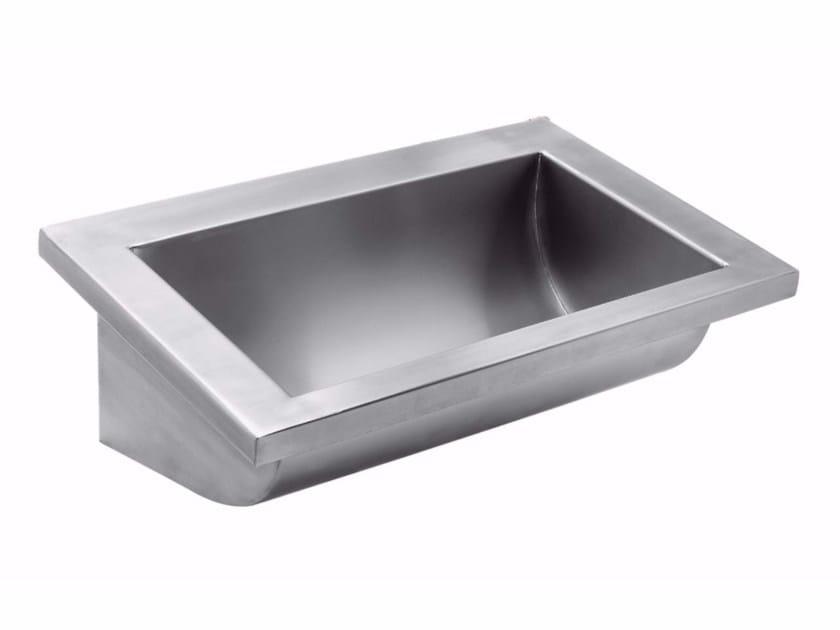 Rectangular single stainless steel washbasin 2020 | Washbasin by Saniline