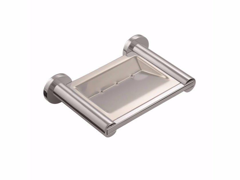 Wall-mounted metal soap dish for bathtub ARCHITECT 2050133 | Soap dish for bathtub by Cosmic