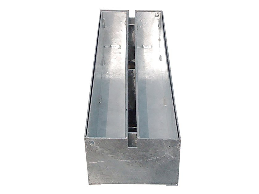 Galvanized steel Drainage channel and part Slotted grating galv. Silt box by Pircher