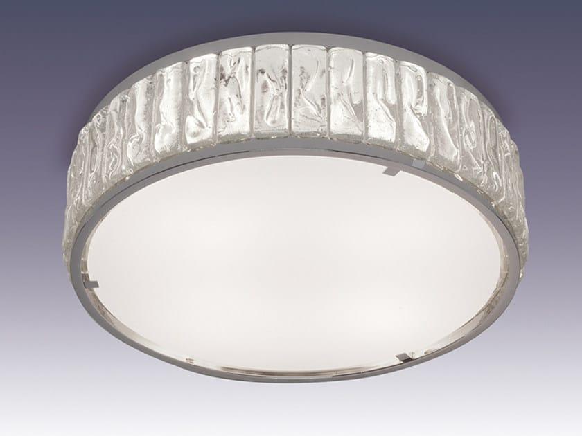 Plafoniera a luce diretta in vetro 2058 A   Plafoniera by Jean Perzel