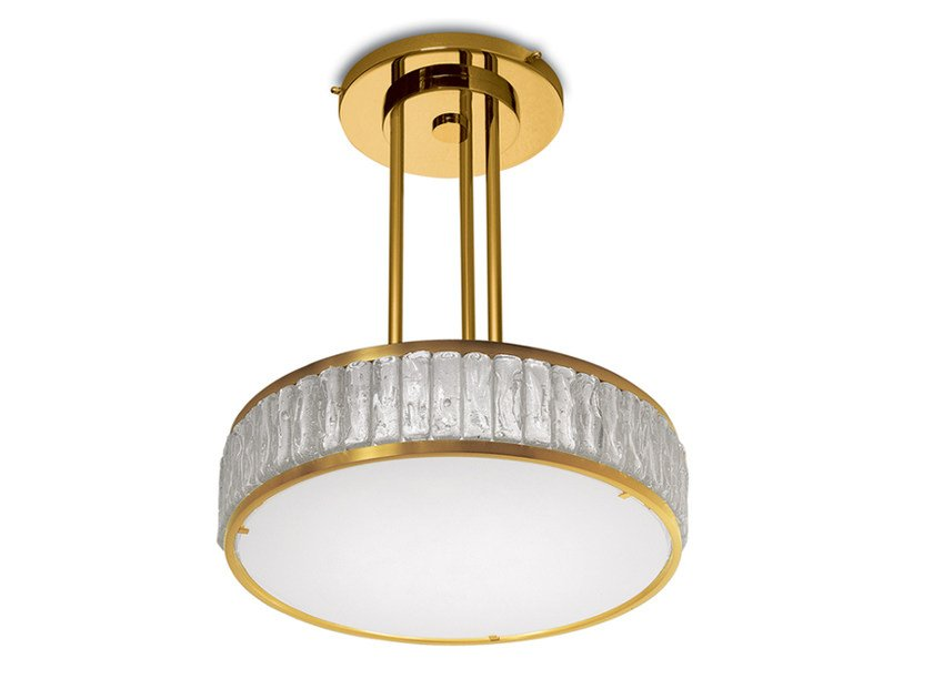 Direct light glass pendant lamp 2058 A S   Pendant lamp by Jean Perzel
