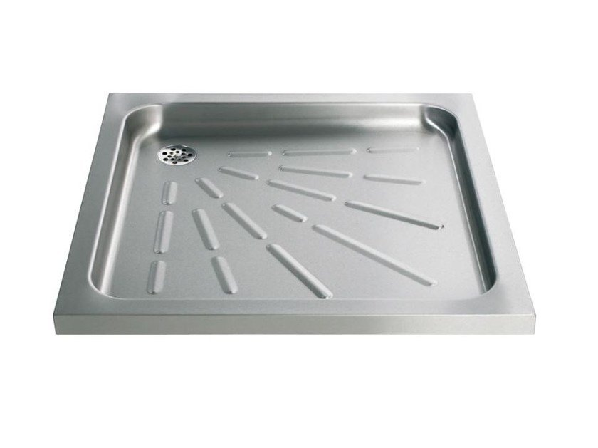 Anti Slip Square Stainless Steel Shower Tray 2060 | Shower Tray By Saniline