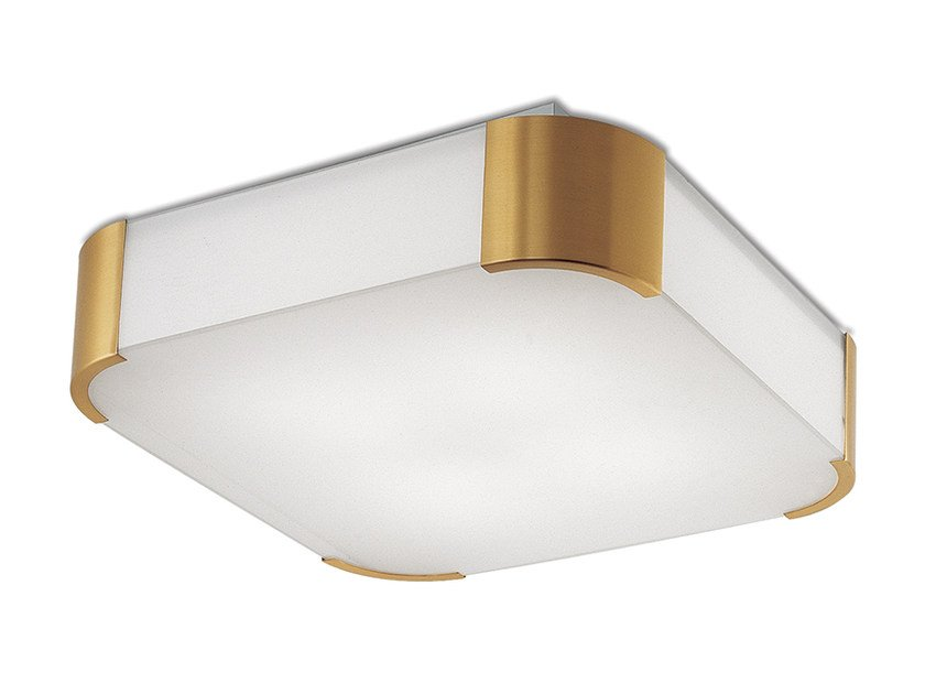 Direct light glass ceiling light 2067 | Ceiling light by Jean Perzel