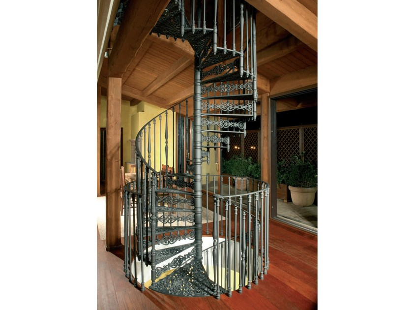 Cast Iron Spiral Staircase 2070 | Cast Iron Spiral Staircase By Modus