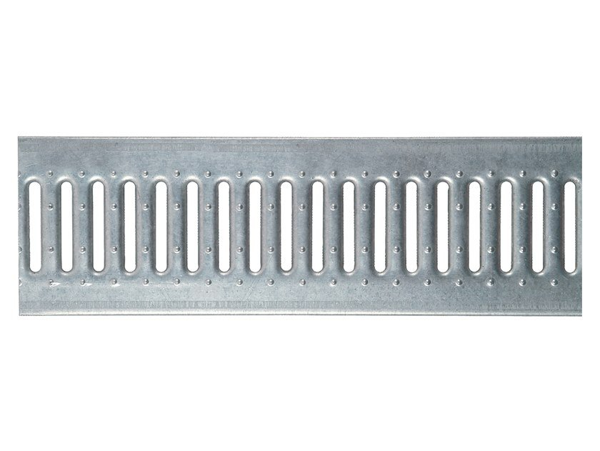 Galvanized steel Manhole cover and grille for plumbing and drainage system Slotted grating galv. by Pircher