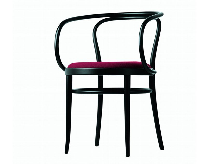 Chair with moulded plywood seat 209 P by Thonet