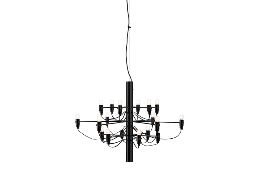 LED chandelier FLOS - 2097 /18 Black Frosted by Archiproducts.com