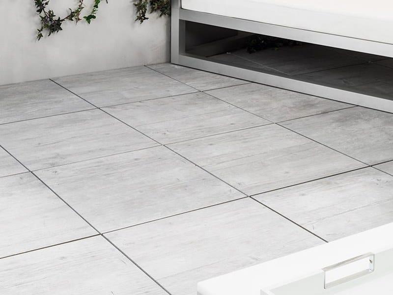 Outdoor floor tiles with wood effect 20MM - WEST GREY by URBATEK