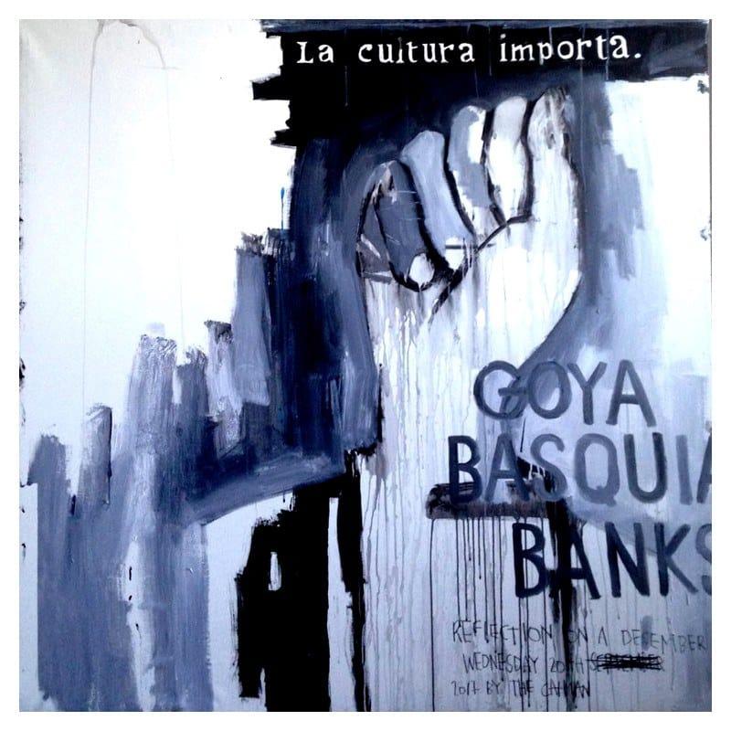 Acrylic on canvas 20TH DECEMBER GOYA BASQUIAT BANKSY by ICI ET LÀ