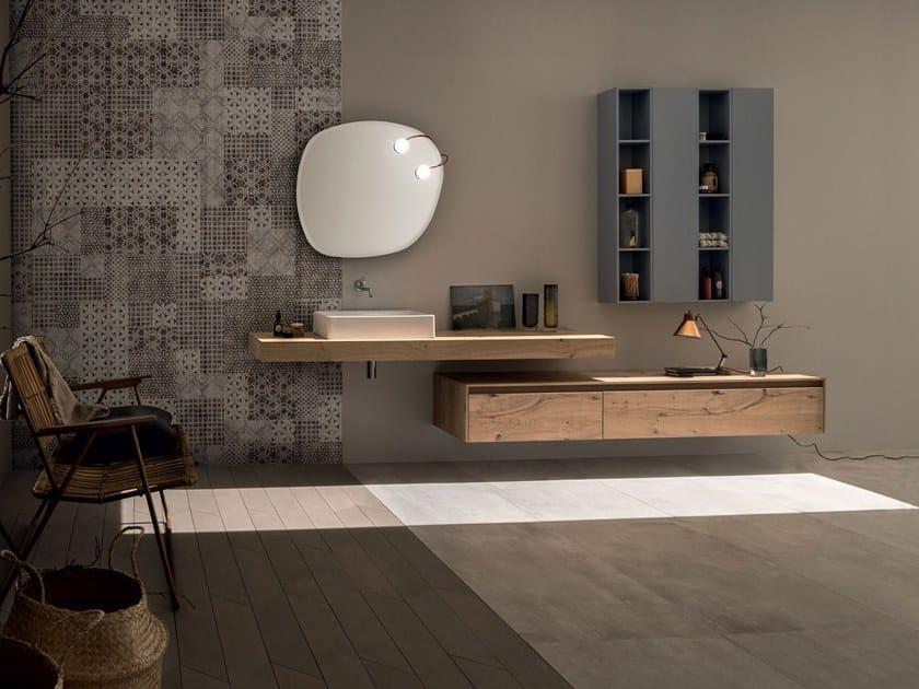 Arredo bagno completo in legno massello 21 rovere nodato by rab arredobagno - Arredo bagno in legno ...