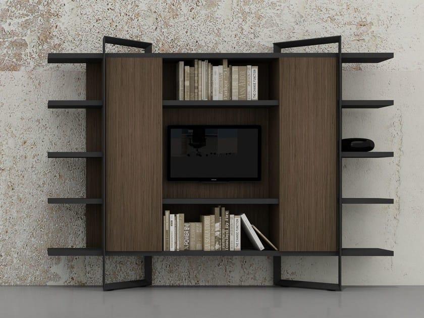 Wood veneer office storage unit 212 ISTANBUL | Office storage unit by Tuna Ofis