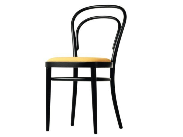 Upholstered solid wood chair 214 P by Thonet