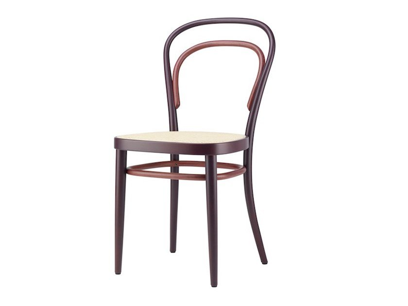 Open back solid wood chair 214 RE-SEEN by THONET