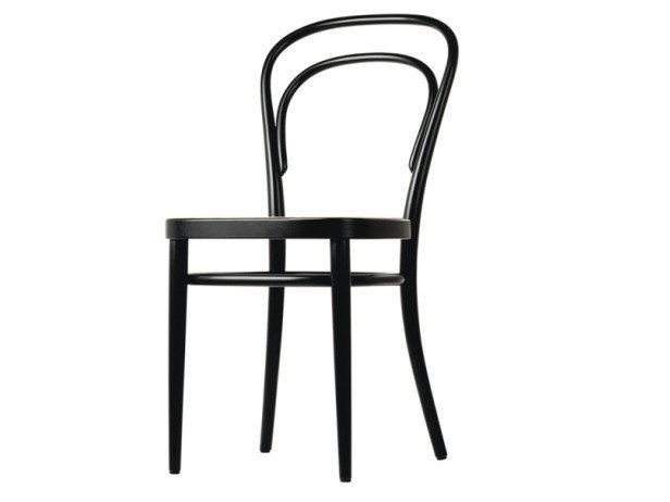 Wood chair with cane work seat 214 by Thonet