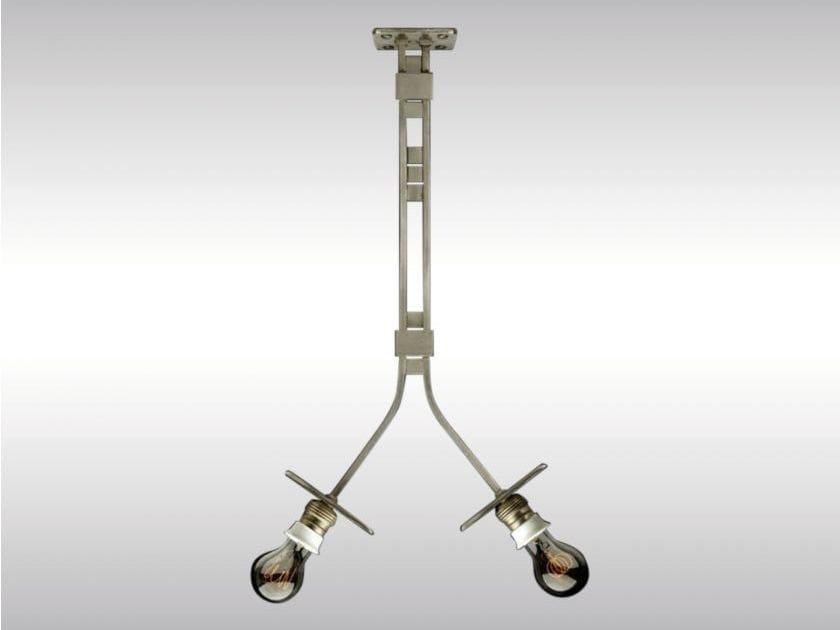Metal pendant lamp DIE ZEIT by Woka Lamps Vienna