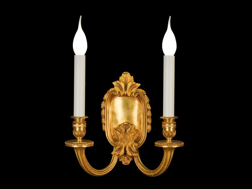 Bronze wall lamp 21665   Wall lamp by Tisserant