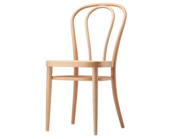 Solid wood chair with with moulded plywood seat 218 M by Thonet