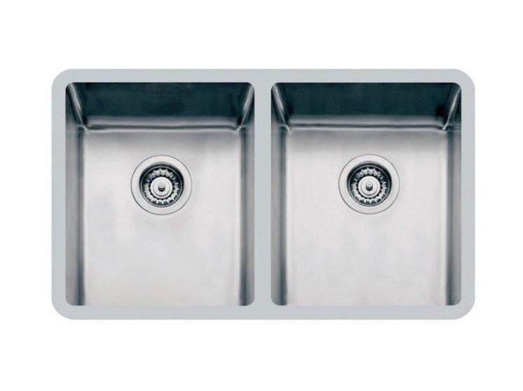 2 bowl undermount stainless steel sink KE 2V 34x40 TPR S/TOP by Foster