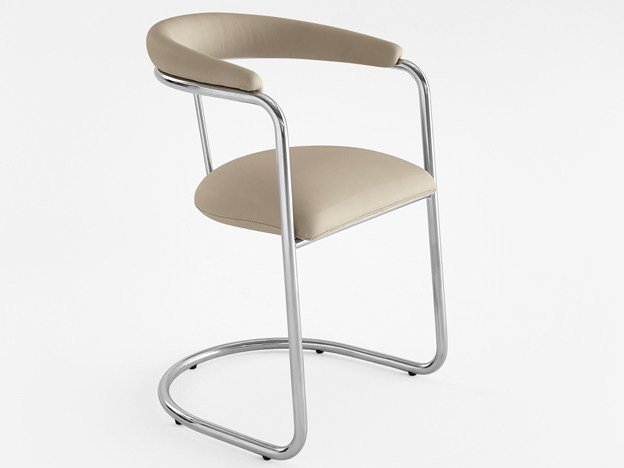 Cantilever restaurant chair 224 - A   Cantilever chair by Adico