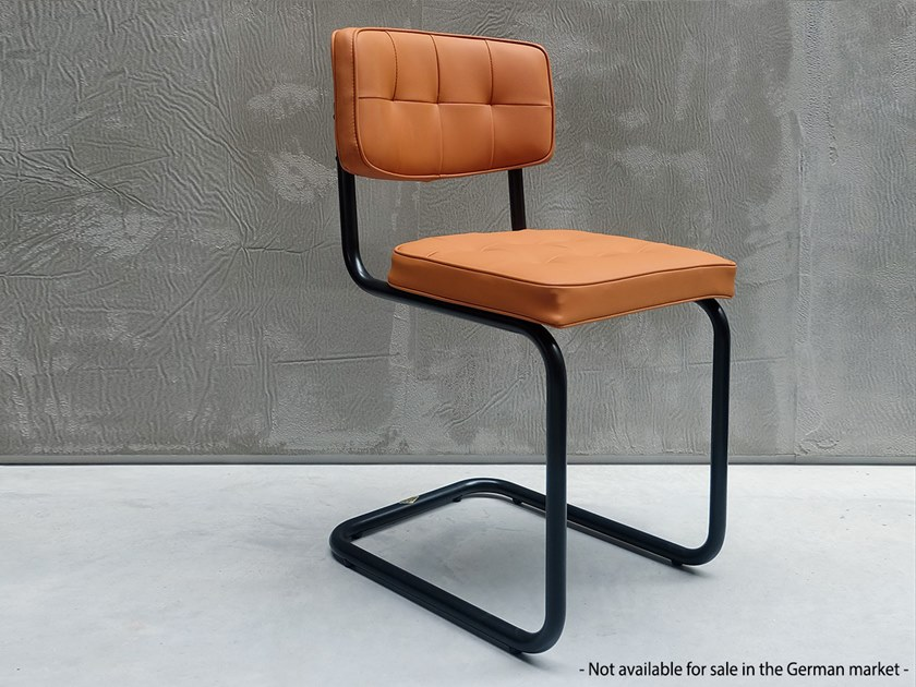 Cantilever Eco-leather restaurant chair 228 | Cantilever chair by Adico