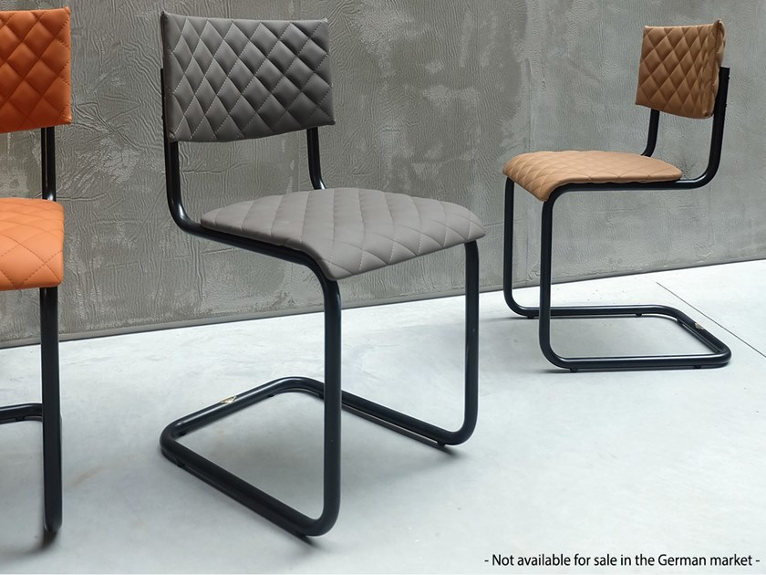 Cantilever Eco-leather restaurant chair 229 | Cantilever chair by Adico