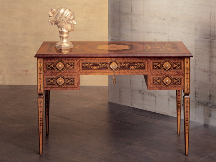 Rectangular writing desk with drawers 229 | Writing desk by Rozzoni