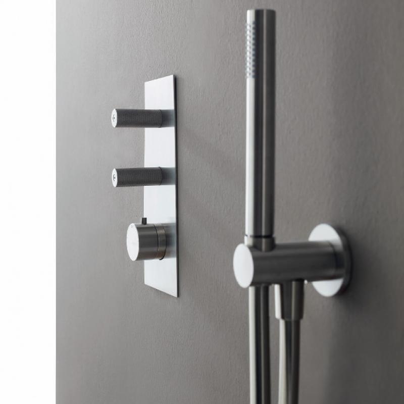 Miscelatore per doccia in acciaio inox con doccetta 22MM | Miscelatore per doccia by Rubinetterie Treemme