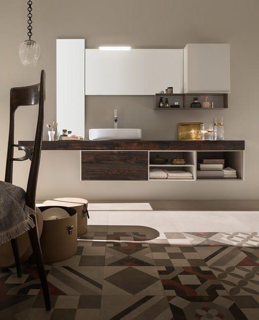 mounted vanity unit 23 ABETE NERO By RAB Arredobagno
