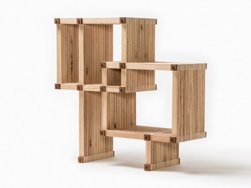 Open wooden bookcase #23 | Bookcase by Linie by Cabana
