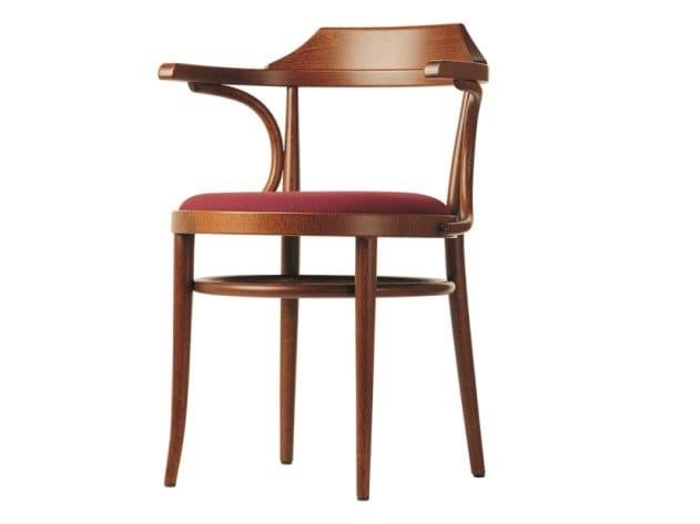 Sedia con seduta in compensato sagomato imbottita 233 P by THONET