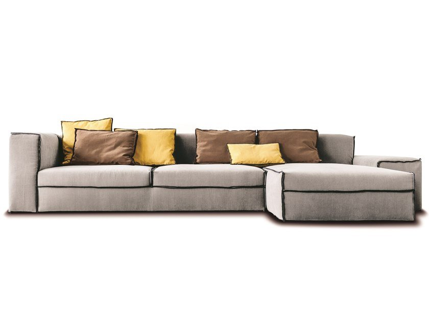 Sectional fabric or leather sofa 235 XSMALL by Vibieffe