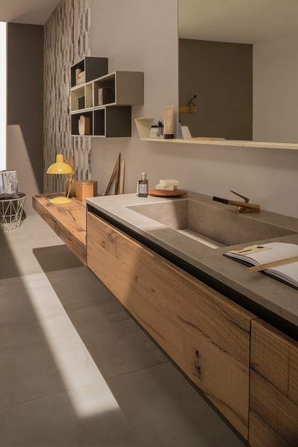 Wall-mounted vanity unit 24 QUERCIA By RAB Arredobagno