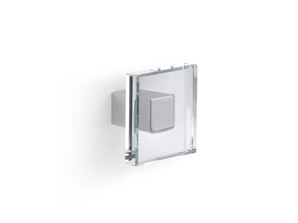 Zamak and glass furniture knob 24101 | Furniture knob by Cosma