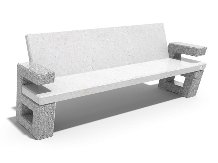 Panchina in calcestruzzo con schienale 252   Panchina in calcestruzzo by ENCHO ENCHEV - ETE