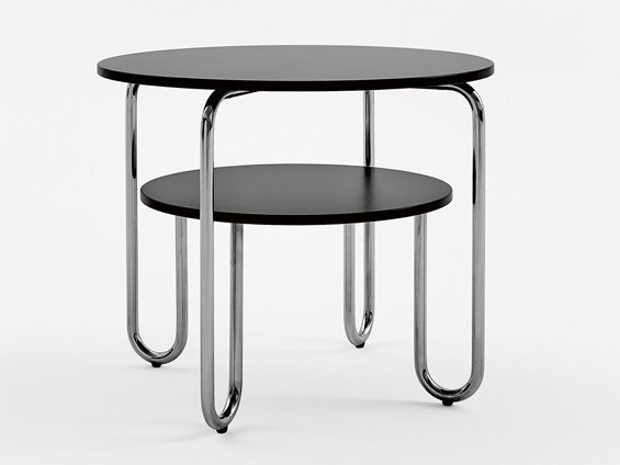 Stainless Steel And Wood Bistro Side Table With Integrated Magazine Rack 261 E Coffee