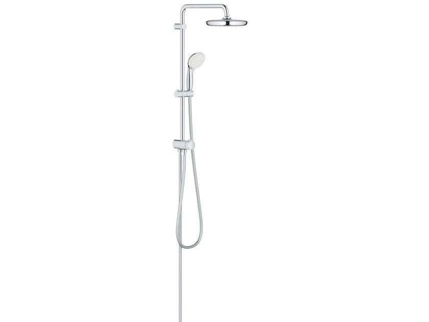 Wall-mounted shower panel with hand shower with overhead shower NEW TEMPESTA 26381001 | Shower panel by Grohe