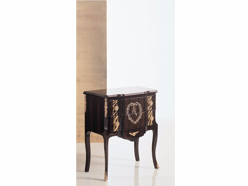 Lacquered rectangular wooden bedside table 26N | Bedside table by Rozzoni