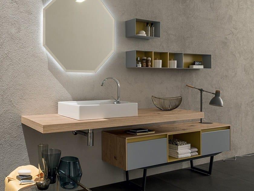 Mobile lavabo laccato con cassetti 27 ROVERE NODATO By RAB Arredobagno