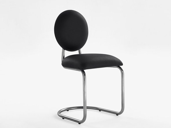 Cantilever upholstered Eco-leather restaurant chair 270 - A | Chair by Adico
