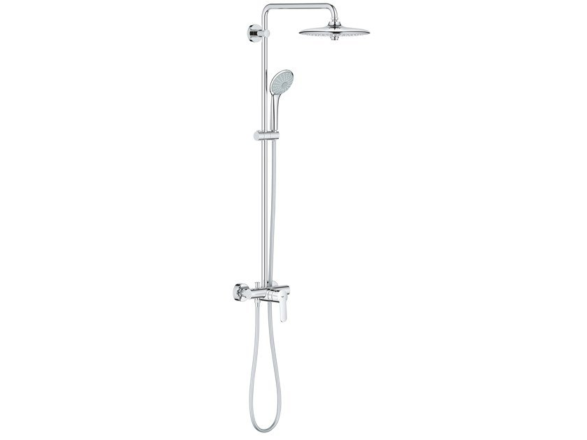 Wall-mounted shower panel with hand shower with overhead shower EUPHORIA SYSTEM 27473001 | Shower panel by Grohe