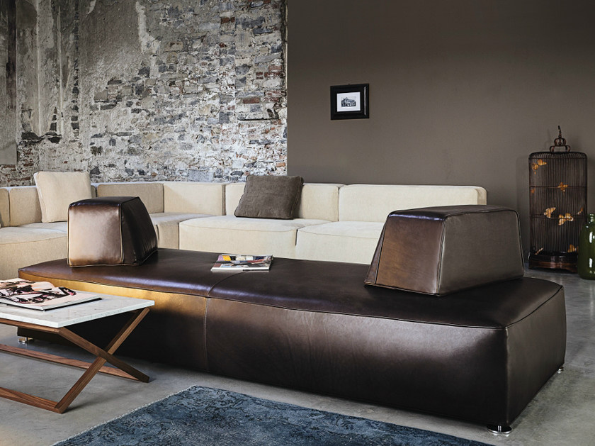 Sectional leather sofa 275 GLAM | Leather sofa by Vibieffe