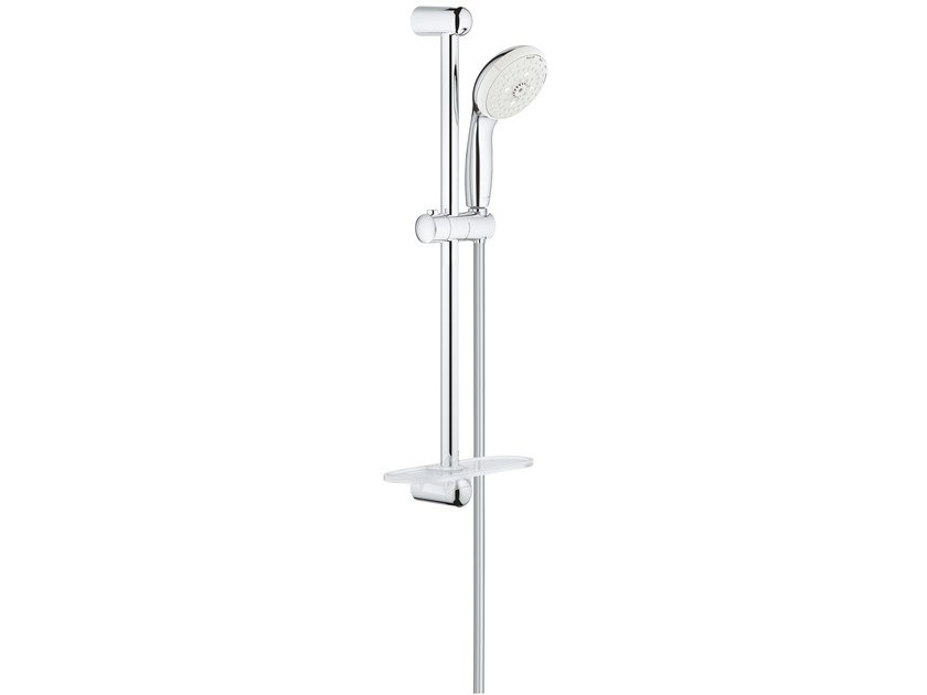Shower wallbar with hand shower with hose with soap dish NEW TEMPESTA CLASSIC 28436002 | Shower wallbar by Grohe