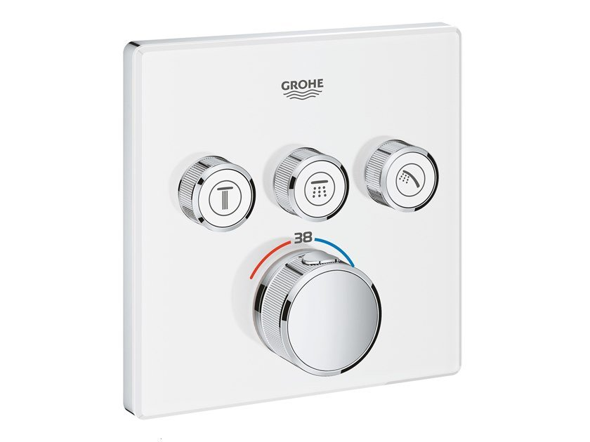 Thermostatic shower mixer with plate GROHTHERM SMARTCONTROL 29157LS0 | Shower mixer by Grohe