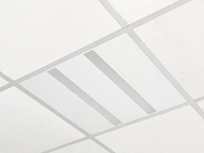 LED direct light recessed Lamp for false ceiling 295-595 2090 WO by Metalmek