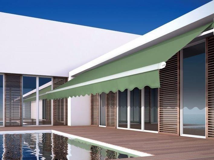 Tende Per Esterni Motorizzate.Tenda Da Sole Motorizzata In Tessuto A Bracci Miami By Arquati Service