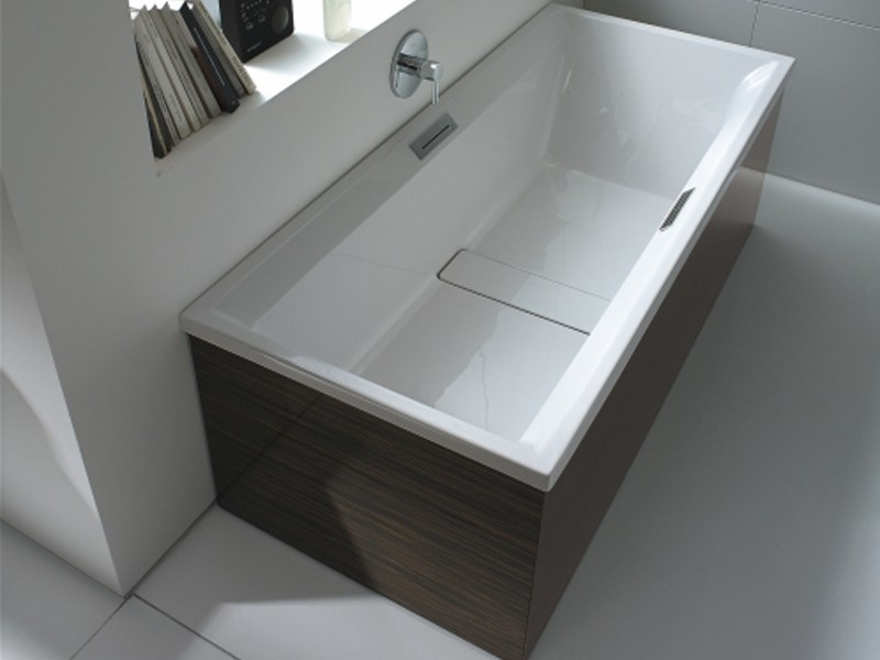 Rectangular built-in acrylic bathtub 2ND FLOOR | Built-in bathtub by Duravit