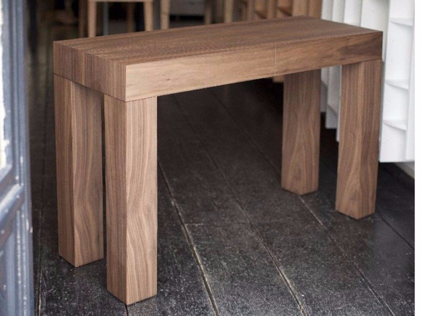 Wooden console table with drawers 2T | Console table by MALHERBE EDITION