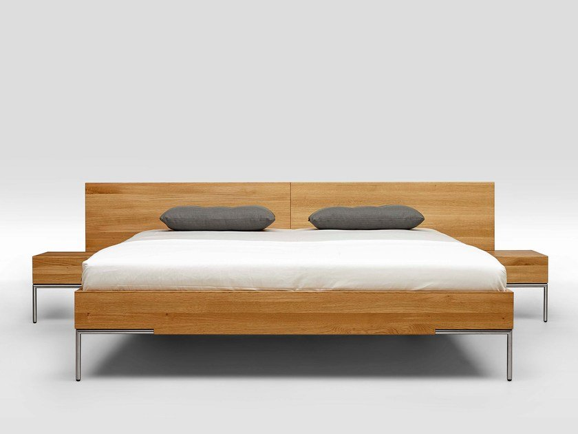 English oak double bed 2TIME SOLID OAK TYPE 2 by Loof